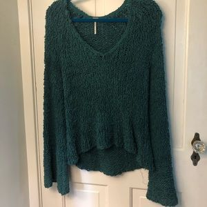 Free People V Neck Sweater w Bell Sleeves